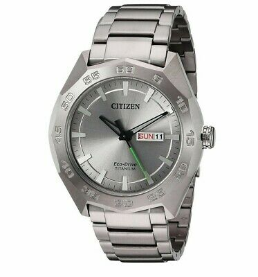 Citizen Eco-Drive Mens Super Titanium Calendar 44mm Bracelet Watch AW0060-54A