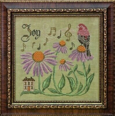 Cottage Garden - Sing for Joy Hs Finch - Coneflwr Counted Cross-stitch Pattern