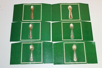 6 Sterling Silver Franklin Mint State Flower Spoons 1978 New Old Stock