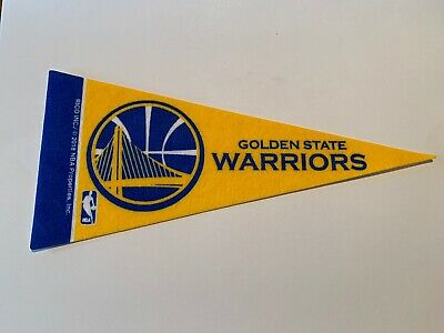 New Golden State Warriors Mini Pennant 4x9 NBA Basketball Banner Flag by Rico
