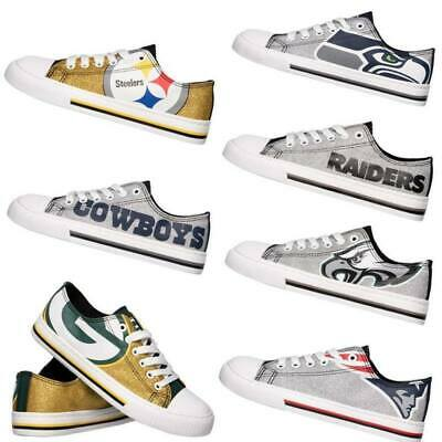 NFL Womens Glitter Low Top Canvas Shoes