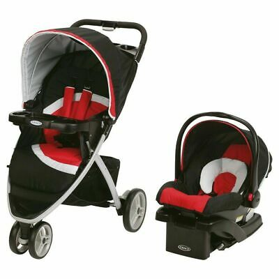 Graco Pace Click Connect Travel System Spice Red Black Car Seat Stroller NEW