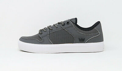 SUPRA Men Shoes Vaider LC Charcoal White Synthetic Leather
