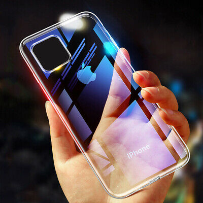 For iPhone 12 11 Pro XS Max XR 8 Plus SE Shockproof Soft Bumper Clear Case Cover