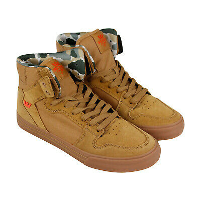 Supra Vaider 08044-278-M Mens Tan Brown Casual Lace Up High Top Sneakers Shoes