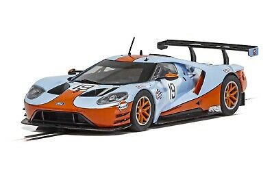 Scalextric C4034 Ford GT GTE Gulf Edition 132 scale slot car