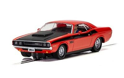 Scalextric C4065 Dodge Challenger - Red - Black 132 scale slot car