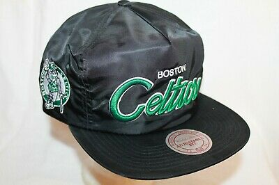 Boston Celtics Hat Cap Zipback Cap by Mitchell - Ness NBA