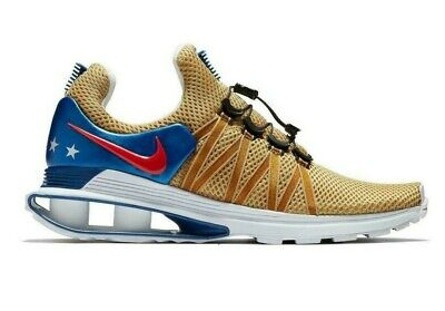 Nike Shox Gravity Gold Blue Red White Mens Shoes USA Trainers Sneakers AR1999