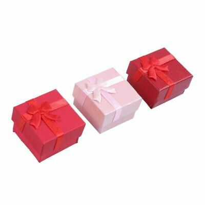 24 Pcs Gift Storage Box Cube Ring Earring Charm Jewelry Case Necklace Wedding
