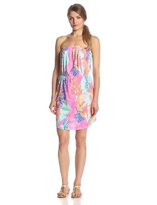 Lilly Pulitzer Windsor Dress Small New Neon Coral Electric Feel S