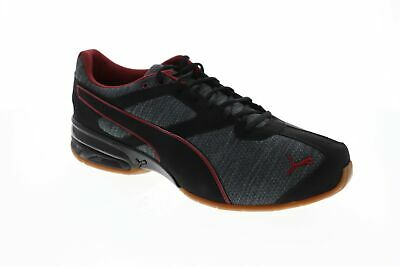 Puma Tazon 6 Heather Rip 19112101 Mens Black Low Top Athletic Gym Running Shoes