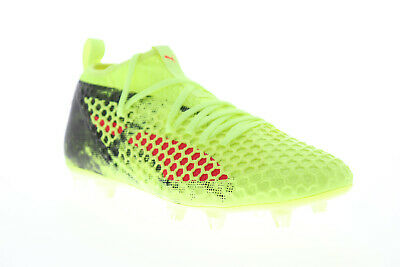 Puma Future 18-2 Netfit FG AG 10432101 Mens Green Athletic Soccer Cleats Shoes