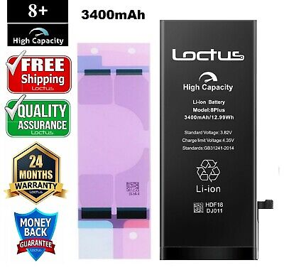 3400mAh High Capacity Battery iPhone 8 Plus with  Adhesive Tape 2 Year Warranty