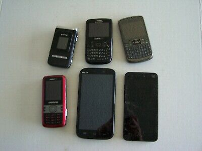 Mixed Lot of 6 Nokia Samsung LG Blu  FOR PARTS
