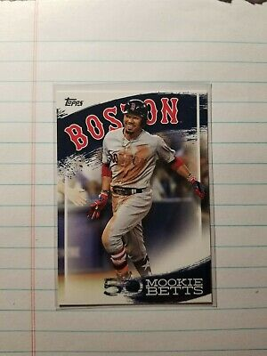 2019 Topps Mookie Betts Highlights BOSTON RED SOX  MB-10