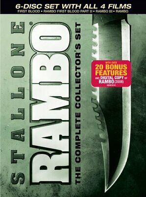 RAMBO COMPLETE COLLECTOR SET New 6 DVD Set All 4 Films