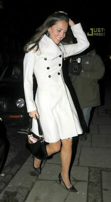 Reiss Cream Wool Coat - as worn by Kate Middleton  size xs