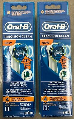 8x BRAUN ORAL B PRECISION CLEAN STYLE TOOTHBRUSH REPLACEMENT BRUSH HEADS REFILL