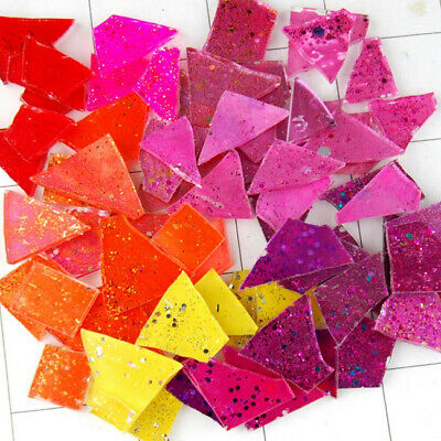 50 pieces of MIXED BRIGHTS Mosaic Art Glass Tiles by Makena Tile