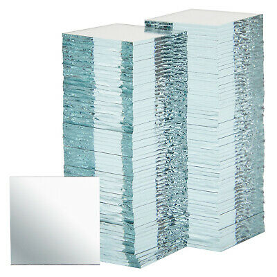 120-Piece Square Mirrors 1x1 Inch Bulk Glass Mosaic Tiles for Arts - Crafts