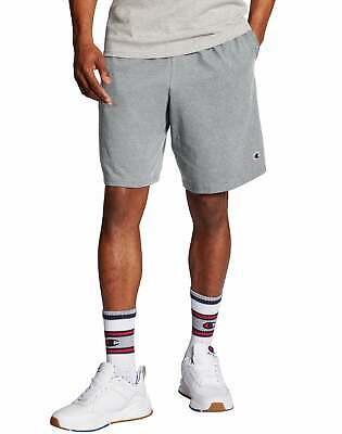 Champion Mens Shorts Pockets Authentic Cotton 9-Inch Gym Workout Warm Jersey