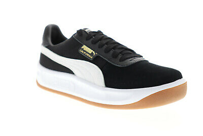 Puma California Casual 36660806 Mens Black Leather Low Top Sneakers Shoes