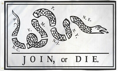 Join or Die 3x5 Flag American Revolution Historical US Flag Culpeper Colonial US