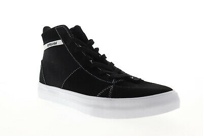 Supra Stacks Mid 05903-002-M Mens Black Suede Lace Up High Top Sneakers Shoes