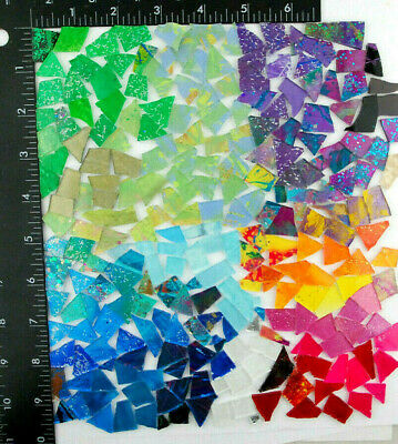 NEW 12 pound bag of MIXED COLOR SCRAPS   Glass Mosaic Tile by Makena Tile