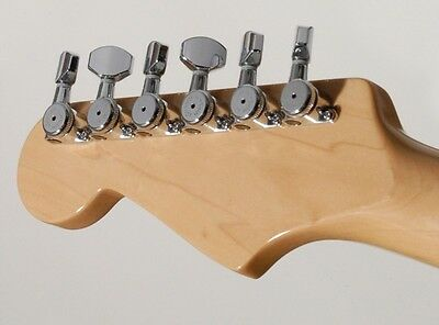 Hipshot 6 inline Staggered enclosed Chrome Grip-lock locking tuners with UMP