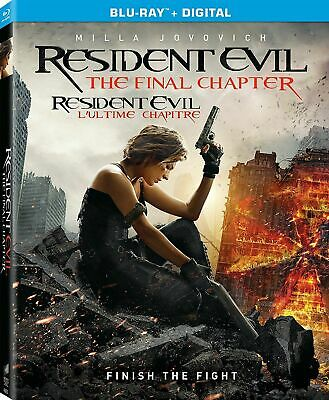 Resident Evil The Final Chapter Blu-ray Disc 2017 Includes Digital Copy