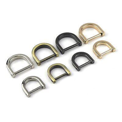 Metal Detachable D Ring Buckle Open Screw Dee Shackle Clasp Craft Bag Strap Belt