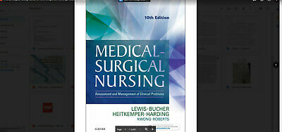 Medical Surgical Nursing 10th Edition By Lewis eTEXTBOOK only