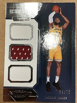 2018-19 Panini Dominion Basketball LeBron James Reigning 3s Triple Jersey 3375