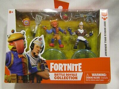 New FORTNITE Battle Royale Collection Beef Boss - Grill Sergeant Moose Ent- 8pc