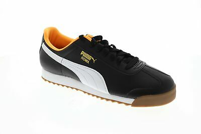 Puma Roma Basic 35357297 Mens Black Classic Lace Up Low Top Sneakers Shoes