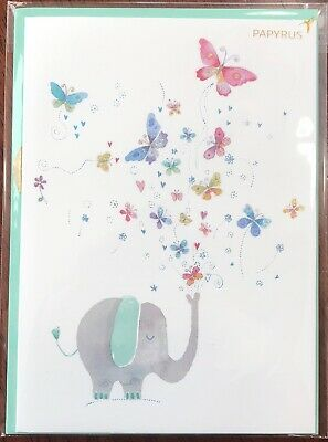Papyrus HAPPY MOTHERS DAY Greeting Card  Cute Elephant With Butterflies