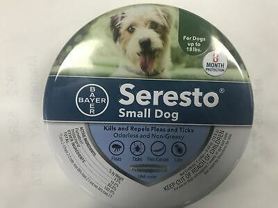 Bayer Seresto Flea - Tick Collar for Small Dog 8 Months Protection Free Shipping