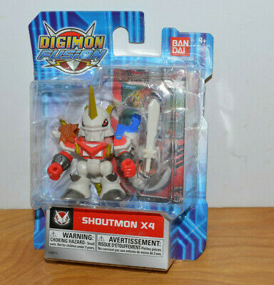 DIGIMON FUSION SHOUTMON X4 ACTION FIGURE MOC BANDAI 2013 1-75 TALL MONSTER