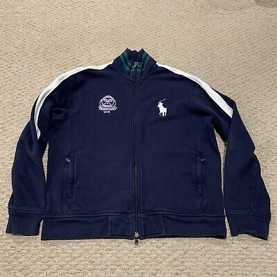The Championships Wimbledon 2008 Polo Ralph Lauren Full Zip Sweatshirt Large