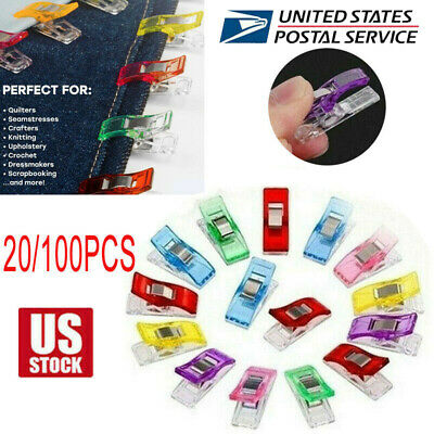 20100PCS DIY Clips Clamp for Craft Quilting Sewing Knit Crochet Multicolor US