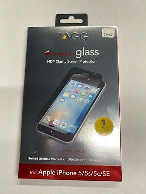 Zagg Invisible Shield HD Glass Screen Protection iPhone 55s5cSE