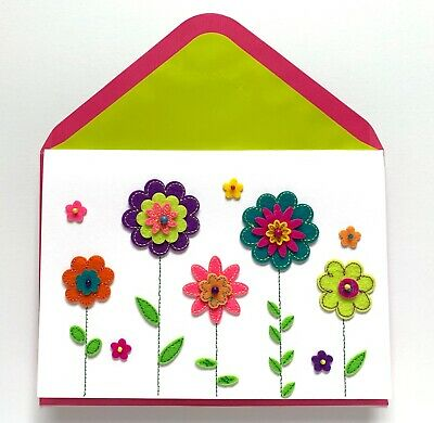 Papyrus Felt Flowers Mothers Day Card   Fast Free Shipping