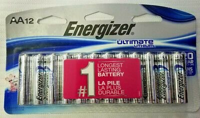 Energizer Ultimate Lithium AA Batteries 12 Pack Exp- 2038 or later