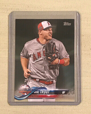 2018 Topps Update Mike Trout All-Star Game Baseball Card US176 Angels