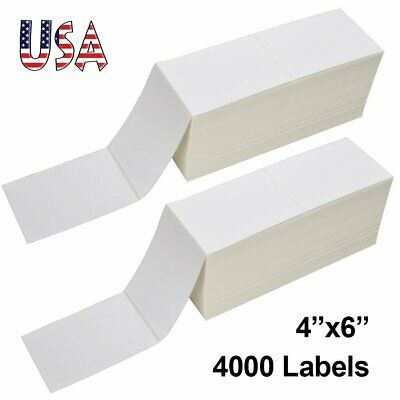 4000 Fanfold 4x6 Direct Thermal Shipping Labels Adhesive Label For Zebra Rollo