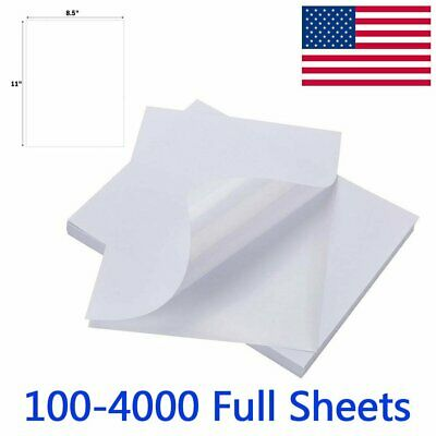 100-4000 Full Sheet Shipping Labels 8-5 x 11 Self Adhesive Blank Sticker Label