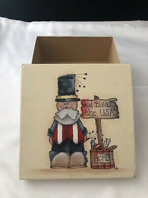 Hand Painted Fourth Of July Box
