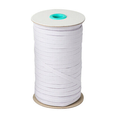 White Elastic Band Cord 14 inches width 6mm 100 Yards Sewing For Face Mask up